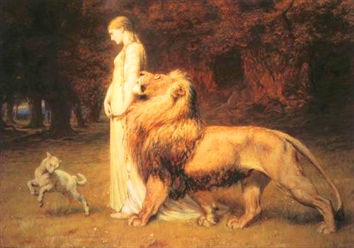 WOMAN+WITH+LION