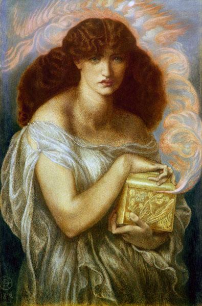 2-M120-P26-1878 D.G.Rossetti, Pandora Rossetti, Dante Gabriel 1828-1882. 'Pandora', 1878. Farbige Kreiden auf Papier, 100,8 x 66,7 cm. Liverpool, Museum.